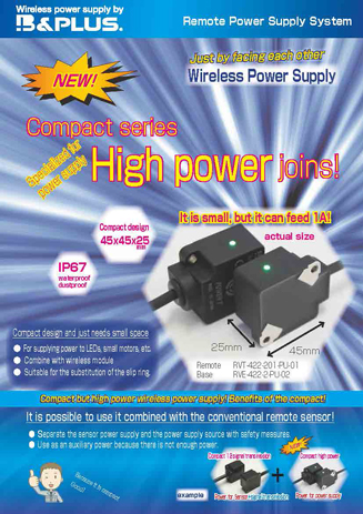 Compact power supply system feeding 1A.