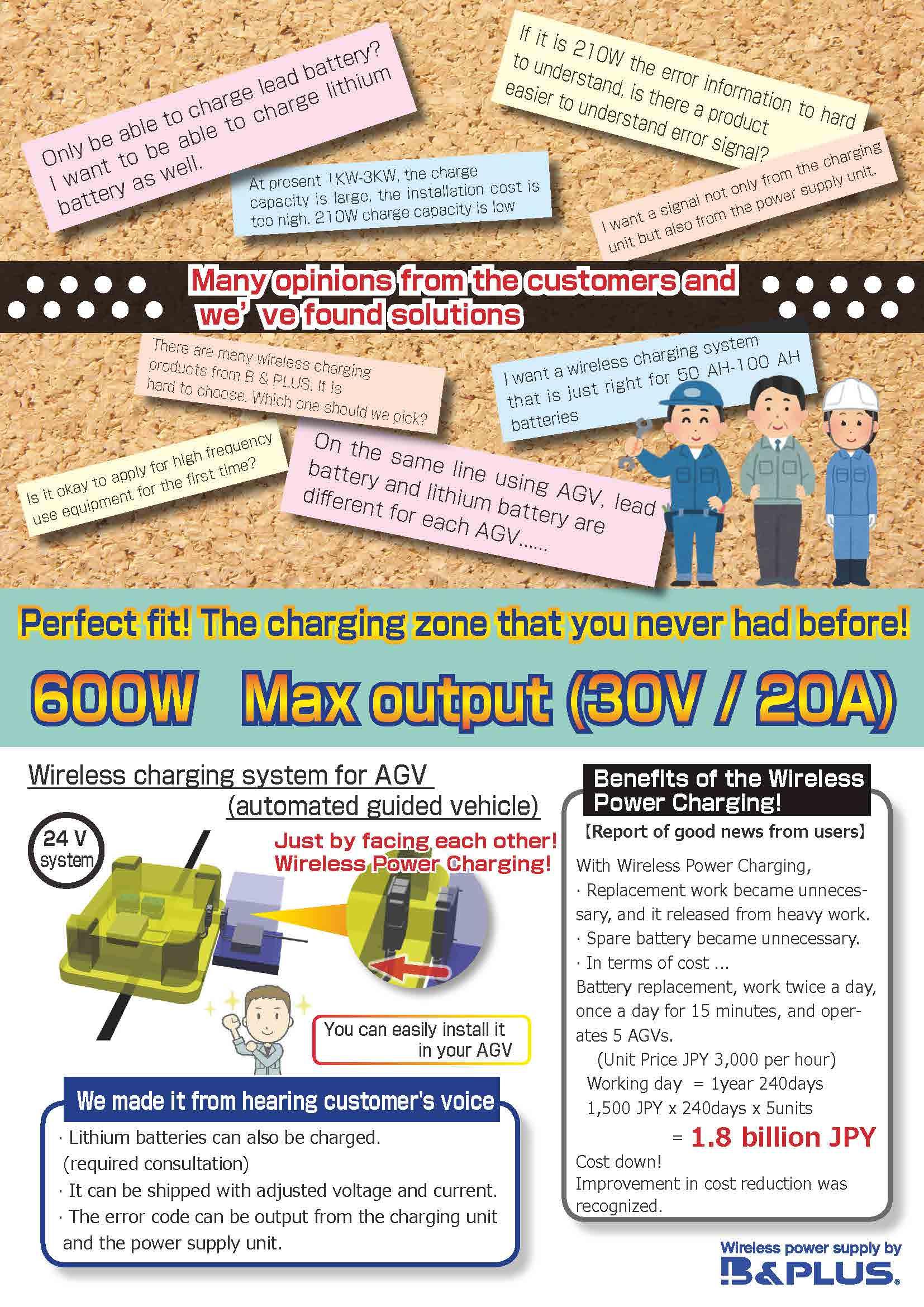 600w wireless power charging