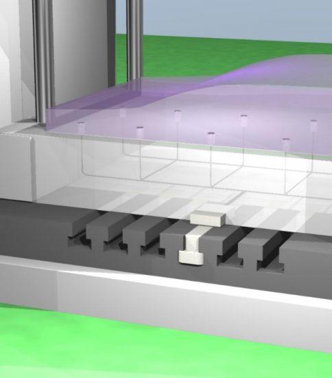 Tスロット形状のプレス機の改善