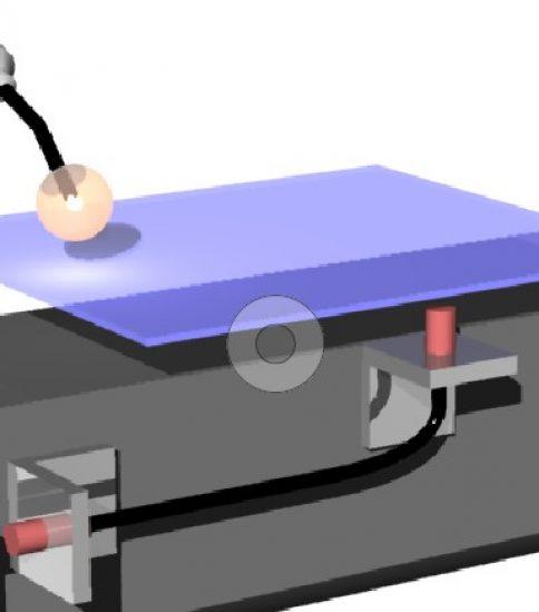 回転式溶接冶具で耐スパッタ対策